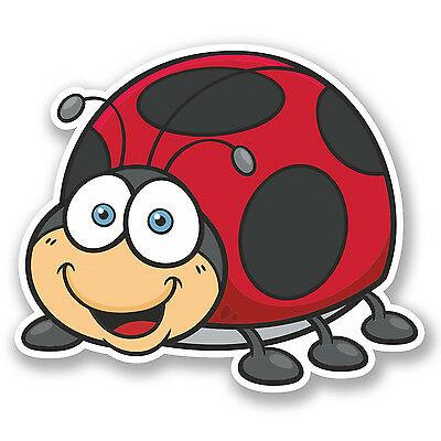 Bug Garden Sticker Laptop Luggage #8245 2 x 10cm Cute Ladybirds Vinyl Stickers