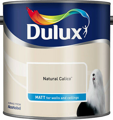 Dulux Smooth Emulsion Matt Paint - Natural Calico - 2.5L - Walls And Ceiling  • 22.99£