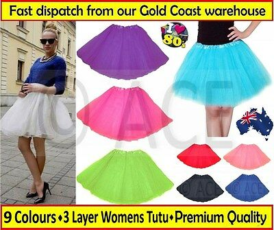 AU11.20 • Buy Womens Adults Ladies Ballet Costume Party Hens Night 80s Dance Tutu Skirt