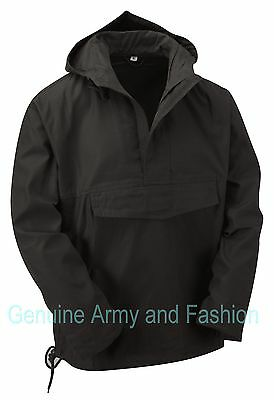 £24.50 • Buy Army Smock Military Combat Style Hooded Jacket Tactical Fishing Top Anorak Black