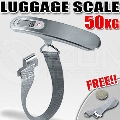 AU11.99 • Buy Electronic Portable Digital Luggage Scale Travel 50 KG Measures Weight Weighing