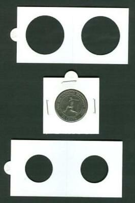 AU6.40 • Buy 50 LIGHTHOUSE 27*5mm STAPLE TYPE 2x2 COIN HOLDERS - Suit Half Penny & $1