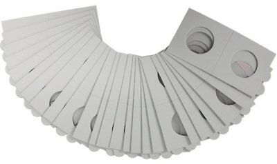 AU12.50 • Buy 100 LIGHTHOUSE 27*5mm STAPLE TYPE 2x2 COIN HOLDERS - Suit Half Penny & $1