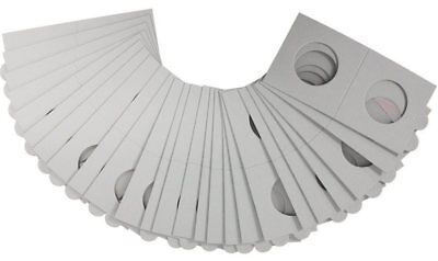 AU12.50 • Buy 100 LIGHTHOUSE 30mm STAPLE TYPE 2x2 COIN HOLDERS - Suit Florins & 20 Cent