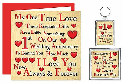 1st - 70th Our Wedding Anniversary Card & Gifts - Husband/Wife - One True Love  • 10.99£