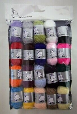Job Lot Mixed DK Acrylic Yarn 20 Balls 10g Craft Mini Balls Wool Woolyhippo  • 5.99£