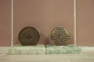 $3.50 • Buy Recovery Coins AA 41 Year Bronze Medallion Tokens Sobriety Affirmation Birthday