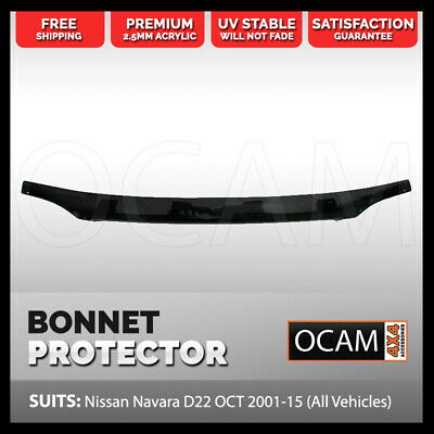 AU89 • Buy Bonnet Protector For Nissan Navara D22 OCT 2001-15 (All Vehicles) Tinted