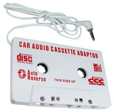 £2.49 • Buy CAR AUDIO TAPE CASSETTE ADAPTER IPHONE IPOD SAMSUNG MP3 CD RADIO 3.5mm JACK AUX