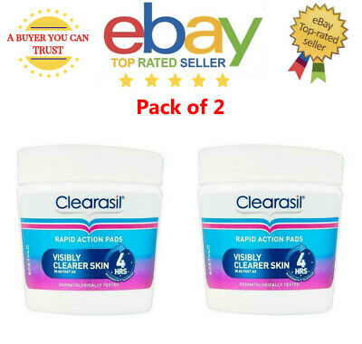 £14.95 • Buy Clearasil Ultra Rapid Action Cleansing Pads, 65 Pads Each Pack Of 2