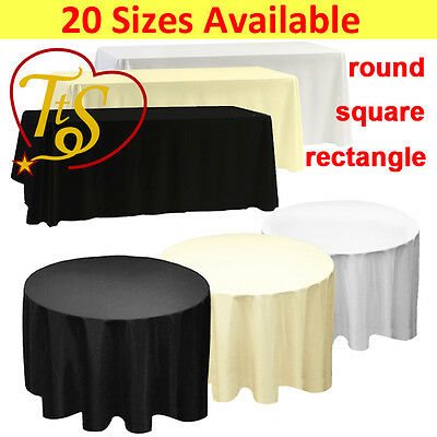 £152.85 • Buy 1 5 10 White Black Ivory Polyester Tablecloth Table Cloth Cover Christmas Party