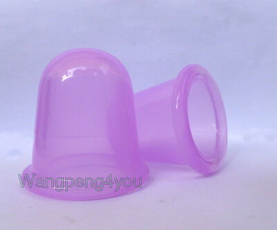 M + L BODY CUP ANTI CELLULITE MASSAGE CUPPING SPA Therapy Silicone Vacuum Cups • 9.99£