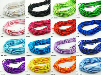 $ CDN9.38 • Buy 1mm 1.2mm 2mm 4mm Nylon Coated Round Elastic Cord Stretchable Beading Mala Craft