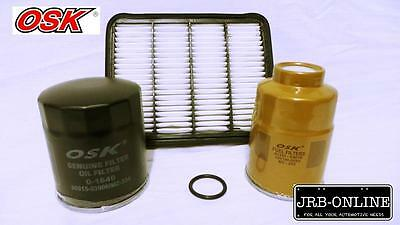 AU45.95 • Buy Ford Courier Pe 2.5l Wl Turbo Diesel Oil Air Fuel Filter Service Kit 99-00