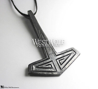 AU71.17 • Buy Hand-Forged Viking Thor's Hammer Mjolnir Pendant - Norse/Medieval/Jewelry/Skyrim