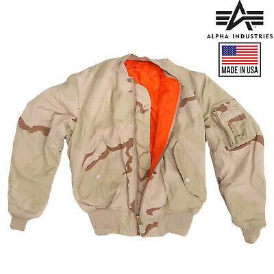 £55 • Buy Bomber Jacket MA1 Flight Combat Army Military Air Force US Tri Desert Padded Top