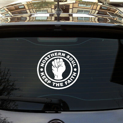 Large Northern Soul Keep The Faith Car Scooter Sticker Vinyl Decal Laptop Motown • 3.49£