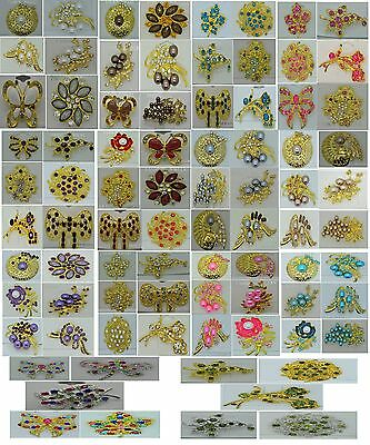 $ CDN13.39 • Buy Wholesale Lots Vintage Style Wedding Brooches Pin Bouguet Gold