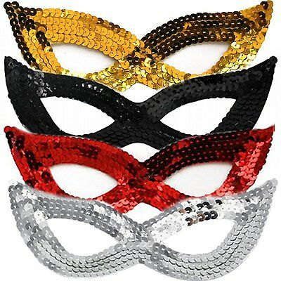 £1.49 • Buy Sequin Masquerade Eye Face Mask Fancy Dress Masked Ball Dance Party Costumes