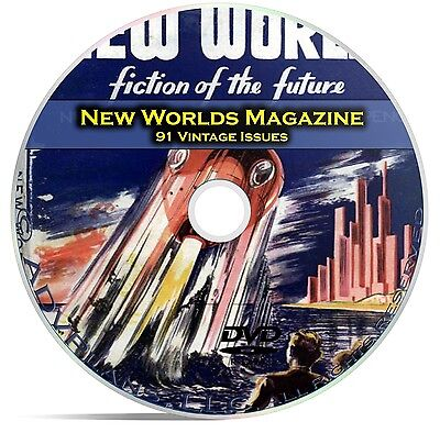 New Worlds, 91 Classic Pulp Magazine, Golden Age Science Fiction DVD CD C63 • 5.79£