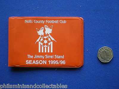 £6.95 • Buy Notts County Football Club - Season Ticket Wallet With Contents   1995/1996