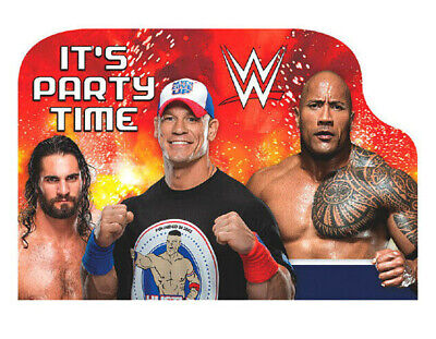 WWE Wrestling Postcard Invitations (8ct) Boys Birthday Party Supplies Notepads • 3.72£