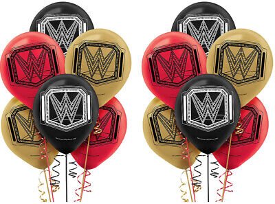WWE Champion Latex Balloons Birthday Decorations Party Favor Supplies ~12ct • 9.11£