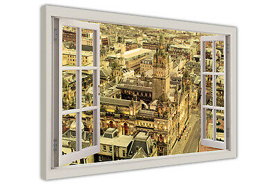 £9.99 • Buy George Square Glasgow Scotland Window Bay View Canvas Prints Wall Art Pictures