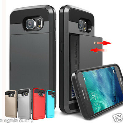 AU5.96 • Buy Samsung Galaxy S5 S6 Edge Plus S7 S8 Note 4 5 Slide Armor Heavy Duty Case Cover