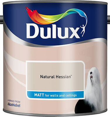 Dulux Smooth Emulsion Matt Paint - Natural Hessian - 2.5L - Walls And Ceiling  • 22.96£