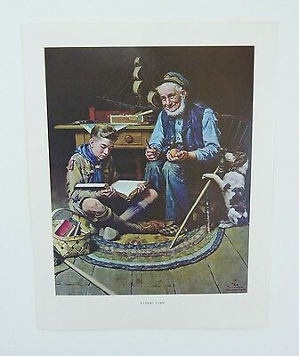 $ CDN24.90 • Buy Vintage Norman Rockwell A Good Turn And We Thank Thee O Lord Boy Scout Print Set