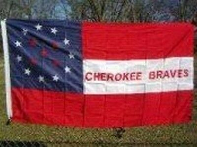 $8.69 • Buy Cherokee Braves Flag 3x5 Ft Indian Cavalry Civil War Historic Red White Blue