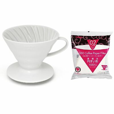 AU48.95 • Buy NEW HARIO V60 01 DRIPPER 100 FILTER PAPER CERAMIC Coffee Cup Pour Over Brewer