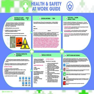 £9.63 • Buy Wallace Cameron Health And Safety Poster Health And Safety At Work 590X420mm 540