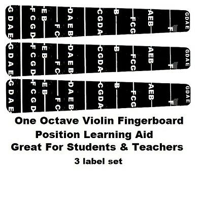 $5.95 • Buy 3 Violin Fingerboard Fretting Stickers Labels For 4/4 Full Sized Violin.