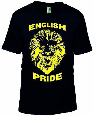 English Pride T-Shirt Or Vest Mens Tee The Lion Heart Top St. George's Day • 9.89£