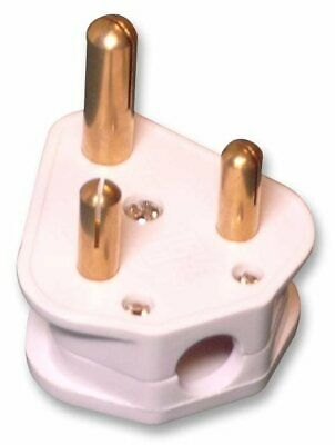 15A / 15 Amp White Round 3 Three Pin Electrical Plug Top Unfused BS536- FREE P&P • 6.75£
