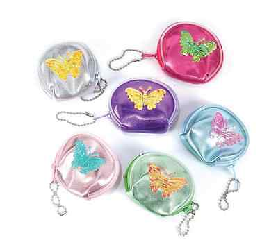 $10.09 • Buy 12 Coin Purse Butterfly Keychain Birthday Kids Party Favors Princess Girls Gift