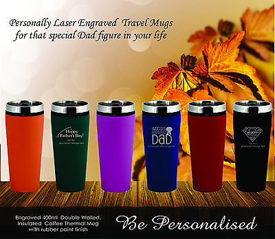AU16.50 • Buy Fathers Day Travel Mug Personalised Gift Present Dad Engraved Birthday Coffee