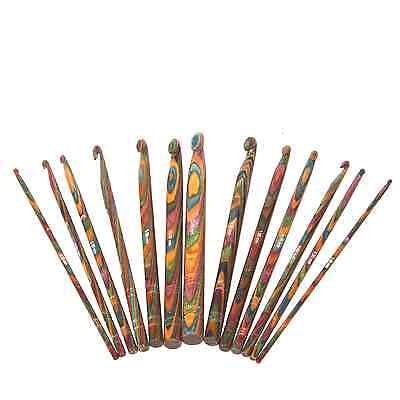 1 KnitPro Symfonie Multi Coloured Wooden Crochet Hook - Only 6.5 And 9mm Remain • 8.27£