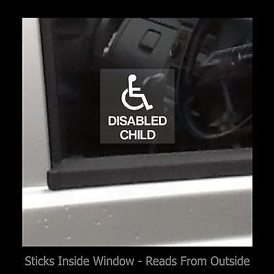 £0.99 • Buy Disabled Child - Window Sticker / Sign - Access, Disabled, Parking