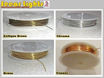 £9.99 • Buy 3.5m Reel Chandelier Wire Light Parts Links Prism Crystals Droplets Glass Drops