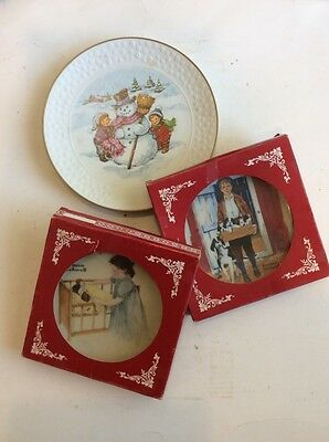 $ CDN12.10 • Buy Vintage Norman Rockwell Plates & 1986 Child's Christmas Plate