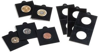 AU8.60 • Buy 25 BLACK LIGHTHOUSE 22*5mm SELF ADHESIVE 2x2 COIN HOLDERS - Suit 2 Cent & $2