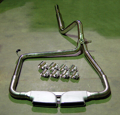 $545 • Buy Catback Stainless Exhaust + Bandclamps + CME Center Tip LS1 LT1 FOR CAMARO SS