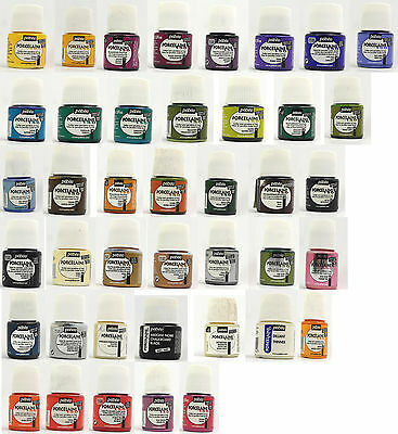 £4.99 • Buy Pebeo Porcelaine Paints - 45ml Pots - Lots To Choose From. Buy 3 Get 1 Free -