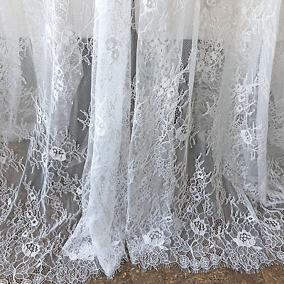 £16.95 • Buy Chantilly Wedding Costume Lace Fabric Dancing Dress Veiling Blossom Tulle 1 PC