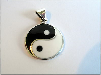 AU27.45 • Buy  Sterling Silver (925)  Ying  Yang  Pendant ( 24 Mm )   !!        Brand  New  !!