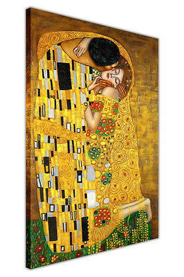 $ CDN25.54 • Buy The Kiss By Gustav Klimt Canvas Painting Re-print Framed Pictures Wall Art Print