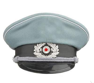 WW2 German WH M36 Officer Wool Crusher Cap With Chin Cord L – GM026 • 20.49£
